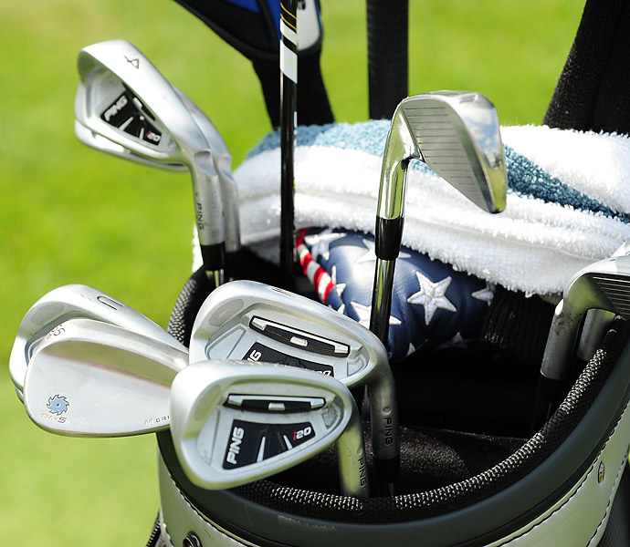 2009 British Open champion Stewart Cink plays Ping i20 irons.