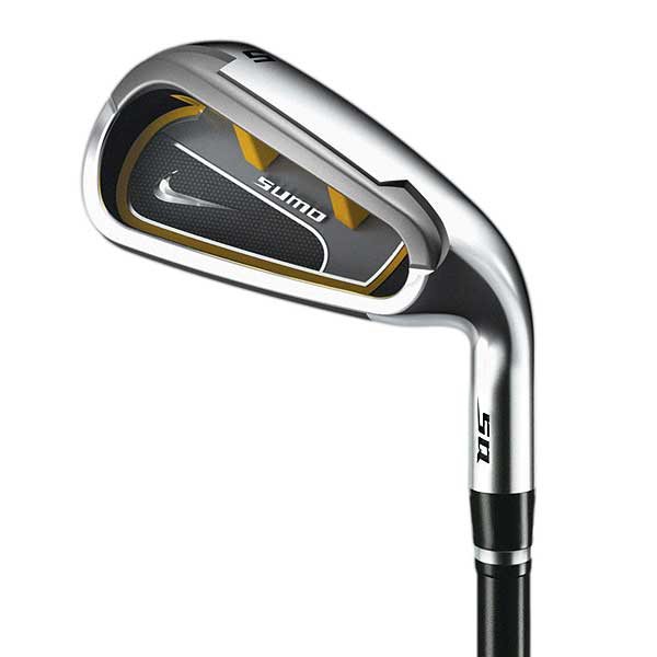 The Nike SQ Sumo Irons                       Get a sneak peek at the newest super game-improvement irons from Nike, the SQ Sumo irons.                                              On this view of the 5-iron, it's easy to see the channel behind the face. The extreme perimeter weighting is designed to help players hit the ball higher.