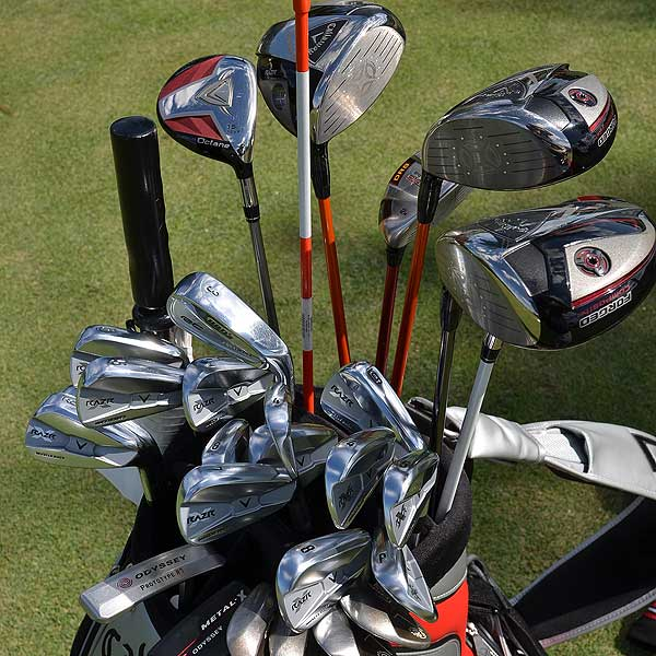 Bae Sang-moon's caddie earned his money on Monday. The South Korean golf had three Callaway RAZR Fit drivers, two putters and two complete sets of Callaway RAZR Muscleback irons in his bag. The second set of irons is a new backup set he wanted to try.