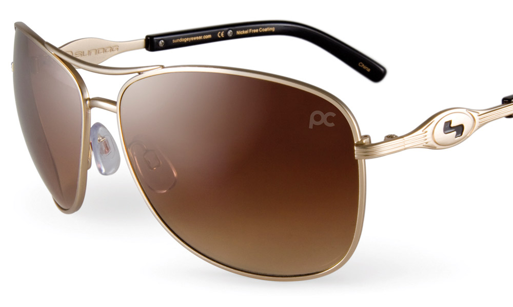 "Sundog Freestyle, $90; sundogeyewear.com                       Part of Sundog's Paula Creamer Collection, the Freestyle features the company's  ""Uni-Fit"" adjustable nose pads and ""Mela-Lens"" technology, which protects eyes from the sun's harmful rays to provide optimal clarity and definition on the course."