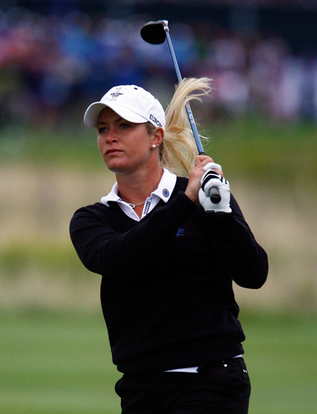 Suzann Pettersen failed to secure a point in both her matches on Friday.