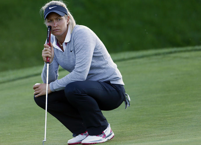 Who is the most intimidating player on tour?                         LPGA player responses:                         SUZANN PETTERSEN: 66 percent                          CRISTIE KERR: 26 percent                          KARRIE WEBB: 8 percent