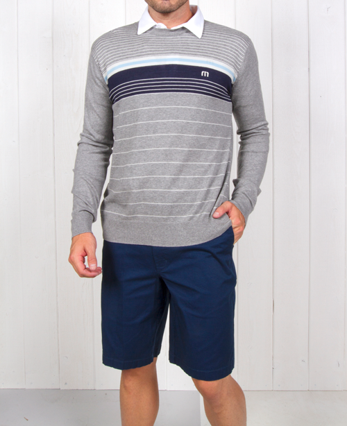 Travis Mathew Inception Monument sweater ($104.95; travismathew.com): Keep Dad looking sharp both on the course and off with Travis Mathew's performance pima blend crew neck sweater.