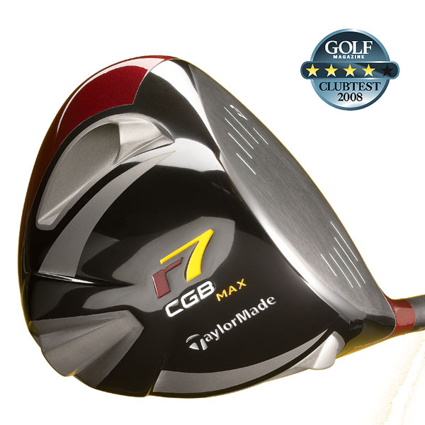 "TaylorMade r7 CGB Max                     $499, graphite; taylormadegolf.com                                          We tested: 9.5°, 10.5°, 12° in REAX SF45 Mitsubishi graphite shaft. Shaft length: 45.5""                     Company line: ""The triangular head incorporates an exceptionally far-back CG location. This makes it easy to launch the ball high and super-deep. 'Movable weight technology' with three weights (one 16-gram, two 1-gram) promote change in trajectory up to 35 yards from a slight fade to large draw for improved accuracy and distance.""                                           Our Test Panel Says:                     PROS: Right-to-left spin slows down a slice; subtle alignment marking helps at address; medium-high ball flight; adjustable weights are great for changing trajectory; slick cosmetics with triangular shape; deadly accurate on center strikes; stable at impact, head doesn't twist open on toe hits; good directional help on slight off-center shots.                      CONS: Would appreciate more differentiation, in terms of feel, between good hits and marginal ones; several testers expected more distance forgiveness; head shape in playing position is not as pleasing to the eye as more standard shapes.                     Rate and Review this club"