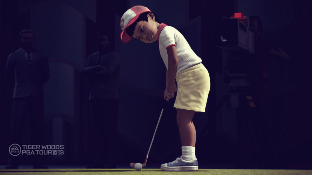 Toddler Years                       The first era includes events from Tiger's childhood in the late 70's. Players can practice their chip shots in his own back yard.