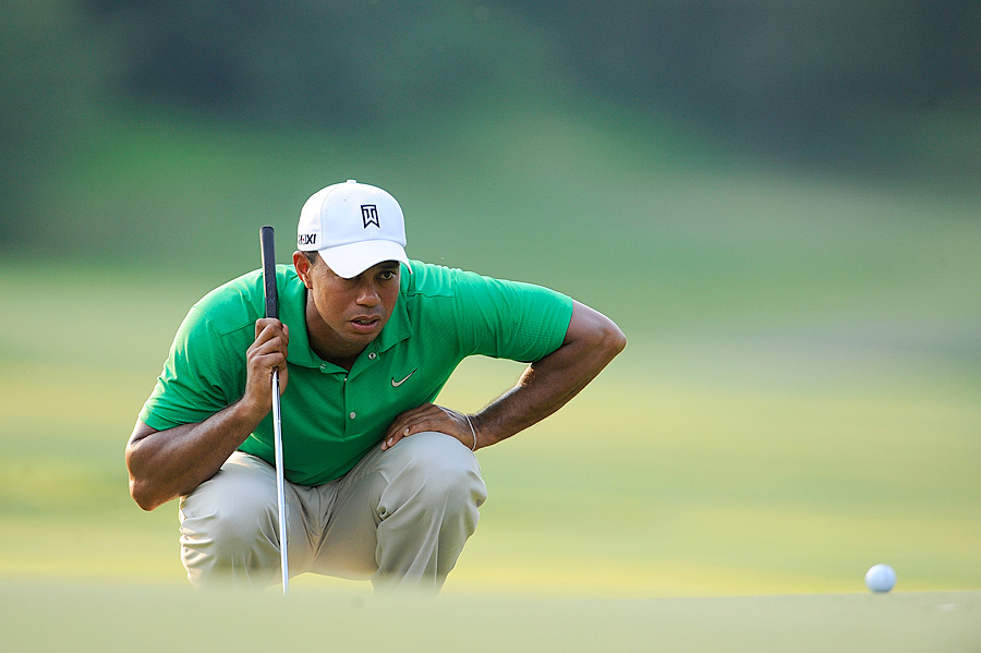 Woods will try to win his third title of the season on Sunday. A win would also move Woods past Jack Nicklaus on the all-time PGA Tour wins list.