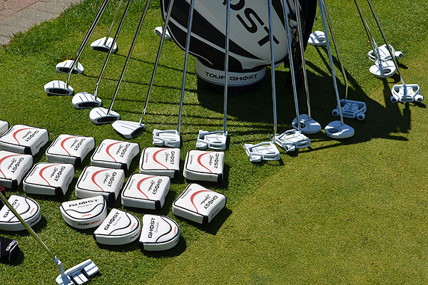For golfers who were looking for something new but weren't ready to take the belly-putter plunge, TaylorMade had plenty of Ghost and Ghost Spider putterson hand.