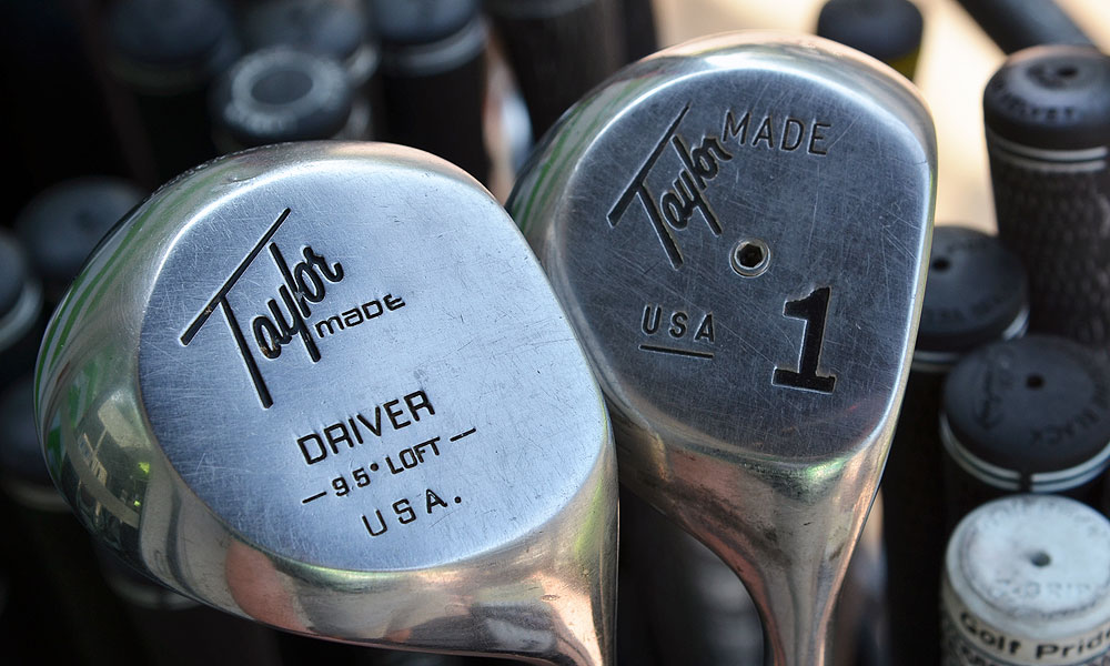 Outside TaylorMade's truck were two reminders of where metalwoods started.