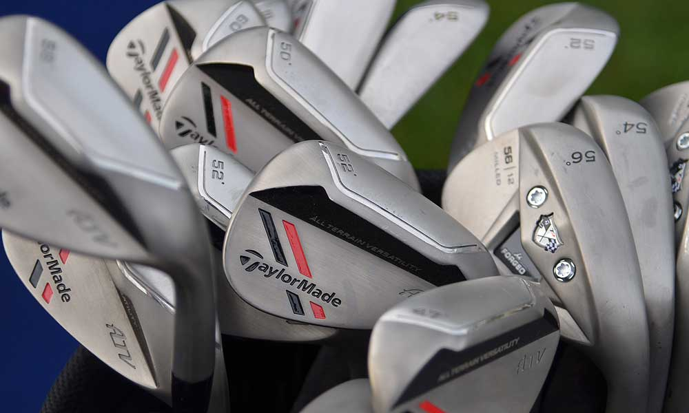 TaylorMade left a bag filled with wedges, including the new ATV, at the entrance to the driving range.