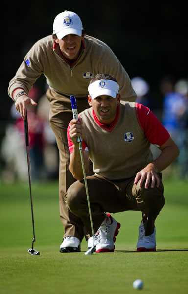 WORST TEAM UNIFORM Uniforms don't get much yuckier than this brown-on-brown combination from Team Europe. Thankfully, it was only a practice day.
