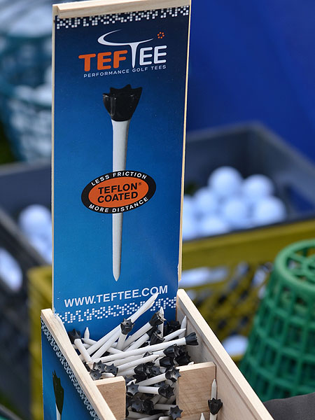 Teflon-coated golf tees. Really?