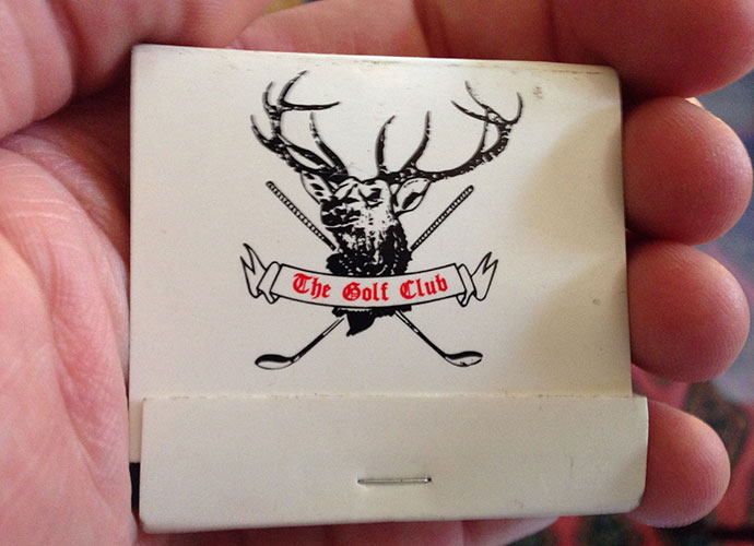 This matchbook from a 2006 visit to The Golf Club, a men's-only domain outside Columbus, Ohio yielded a look at one of Pete Dye's early masterworks (1967) and at one of the greatest locker rooms in golf.