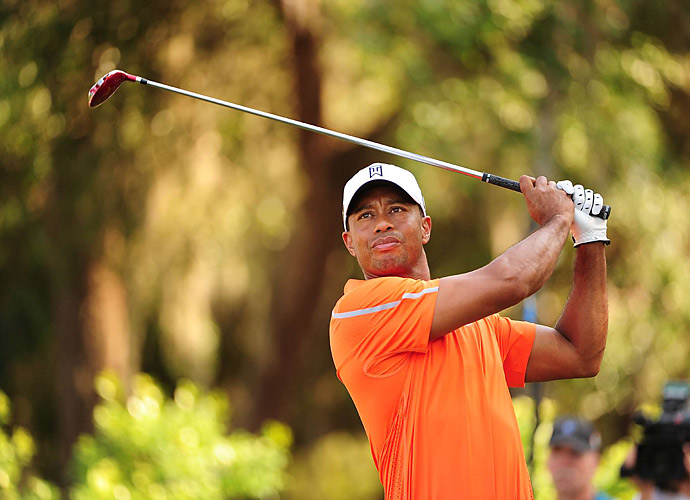 Tiger Woods opened with a five-under 67 at TPC Sawgrass, good enough for T4.