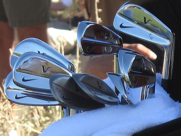 TIger Woods uses a set of Nike's new forged VR Pro Blade irons.