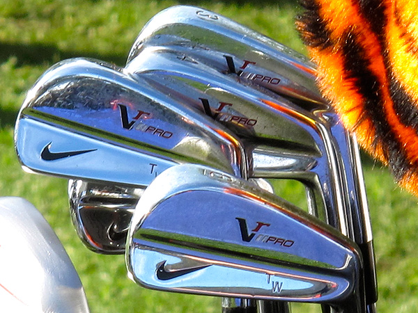 As his Nike Victory Red Pro irons waited for him on the range, Tiger Woods spoke to the media on Wednesday morning.