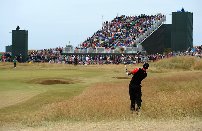 Woods hung around the leaderboard all week at the British Open at Muirfield, and did not appear hampered by his elbow injury. But on Sunday he had two three-putts and struggled to hit fairways while in contention late in the round. He finished tied for sixth.