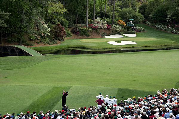 It's tough to take a bad photo of the 12th hole at Augusta National, especially when Tiger is in the frame.