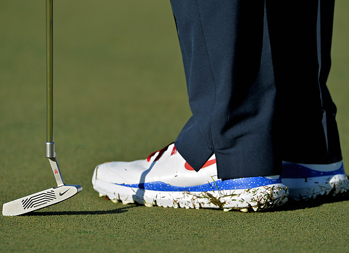 Tiger is sporting fan-designed Nike kicks at this year's Honda Classic.