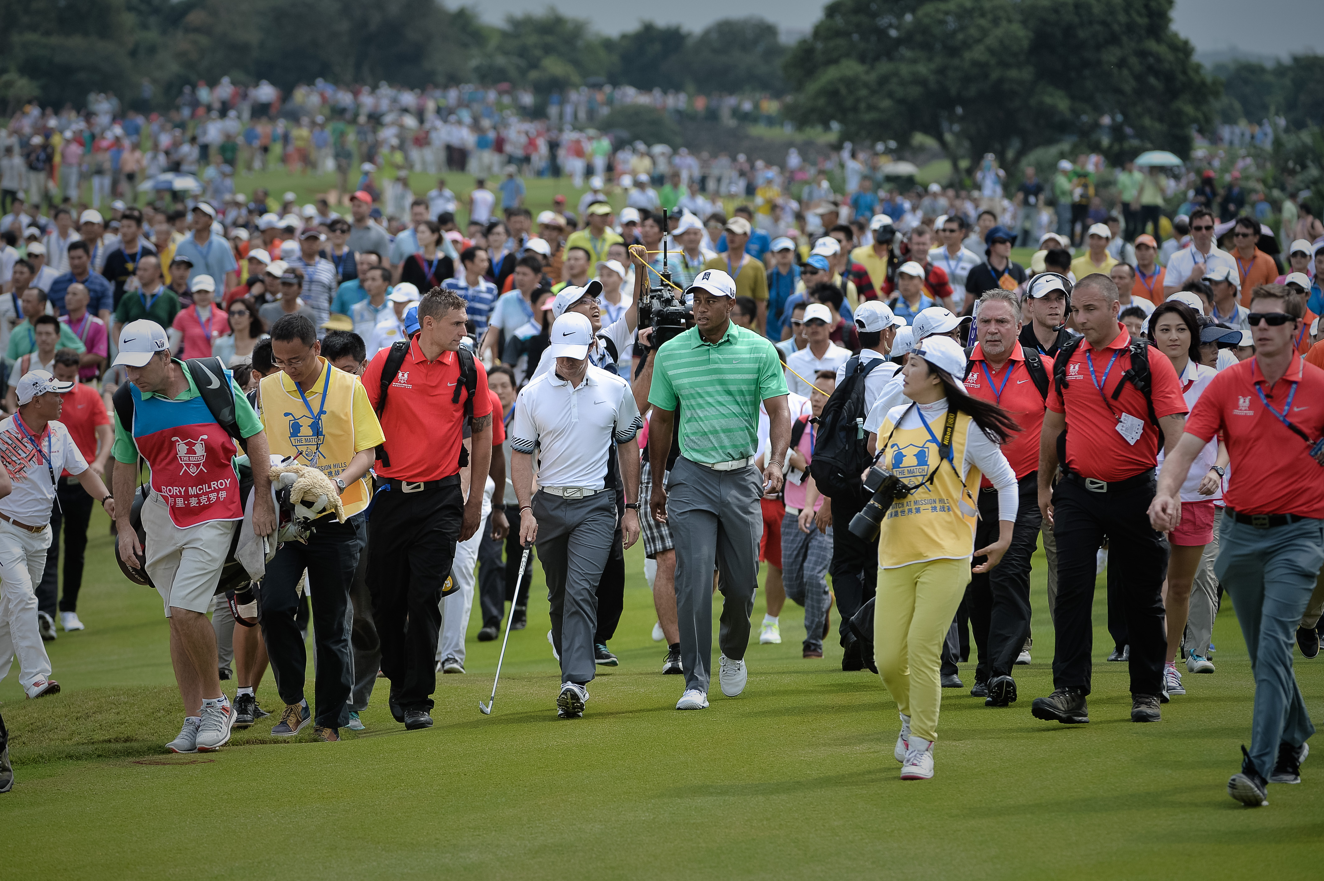 "When McIlroy defeated Woods in 2012, the Northern Irishman was at the top of his game. A year later, following a season-long struggle, McIlroy is looking for momentum to carry into 2014. ""I've seen a lot of promising signs over the past few weeks in practice and also in competitive play,"" McIlroy told the Associated Press. ""I still have four tournaments left until the end of the season and I would love to finish 2013 strongly and get a little bit of momentum going into next season. But I think as I showed out there, I'm hitting the ball well."""
