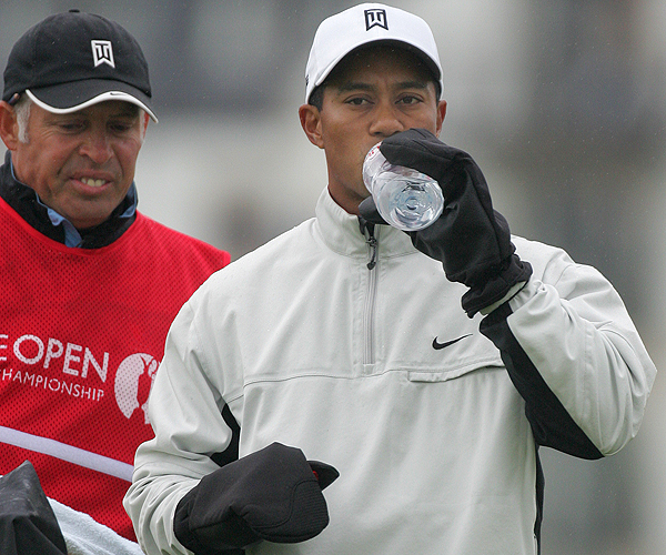 When Tiger Woods strolled to the first tee Thursday morning, the temperature at Carnoustie was in the mid-40s.