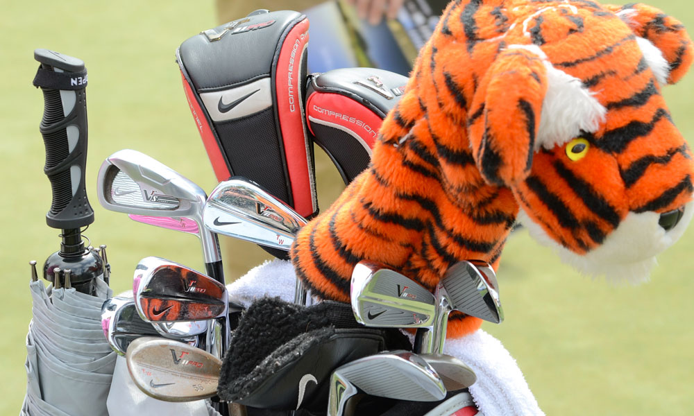 Tiger Woods recently started using a Nike VR_S Forged 3-iron, but the rest of his irons are still VR Pro Blades.