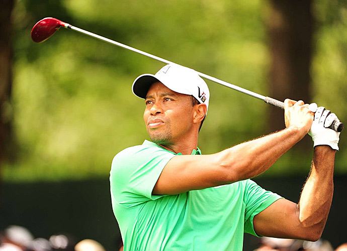 Woods made back-to-back birdies on five and six.