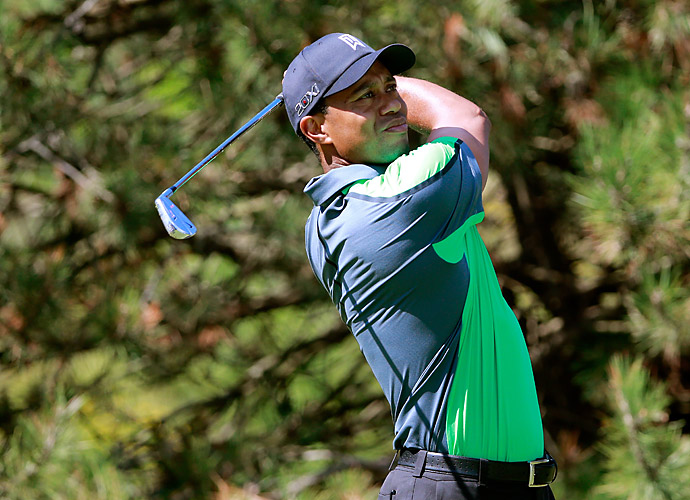 Thursday                       Tiger Woods got off to a quick start Thursday at the BMW Championship, making birdie on his first hole.