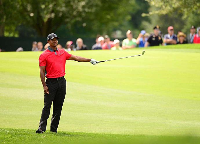Tiger Woods shot an even-par 70 on Sunday.