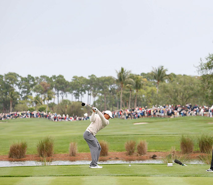Woods made bogey on two of his first four holes.