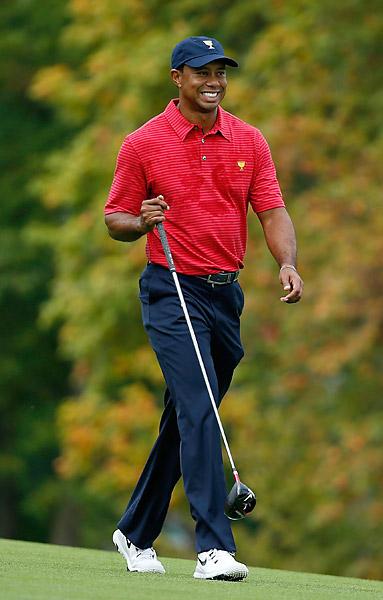 Woods will play alongside Matt Kuchar in Thursday four-ball matches.