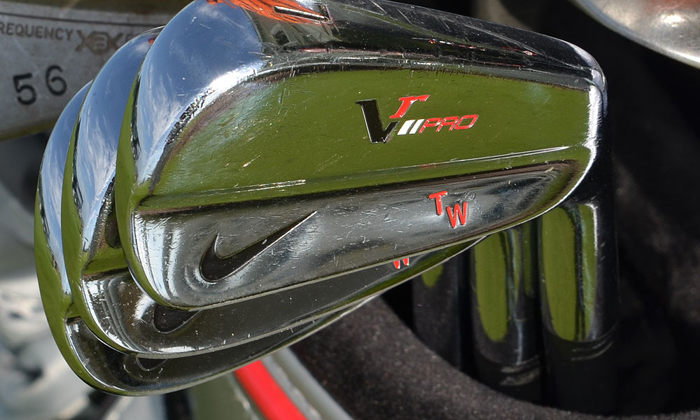 Woods and several other Nike staffers use VR Pro Blade irons.