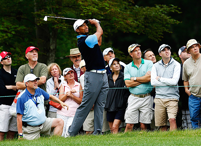 Woods shot a solid three-under 68.