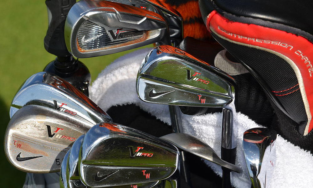 2. Tiger Woods (USA)                       Nike VR_S Forged (2), Nike VR  Pro Blades (3-PW) with True Temper Dynamic Gold  X100 shafts