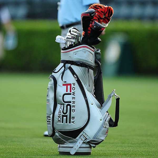 Tiger Woods, who uses Nike VR Pro Blade irons, was one of the first players on the practice range Monday morning.