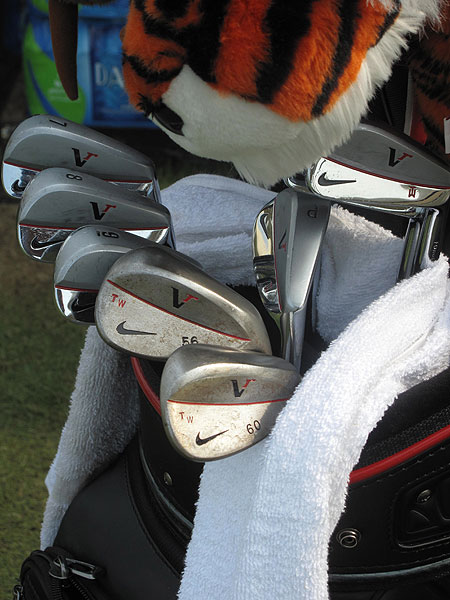 Tiger Woods is continuing to use Nike's VR Forged Blades and wedges.
