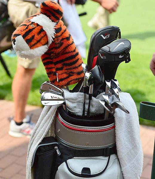 Last week's WGC-Bridgestone champion Tiger Woods continues to trust Nike VR Pro Blades.