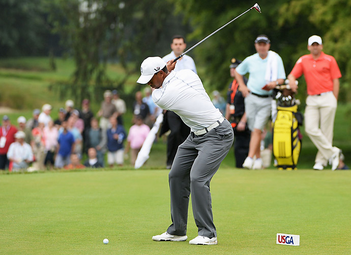 Plenty of players were able to get out on the course, though, including World No. 1 Tiger Woods.