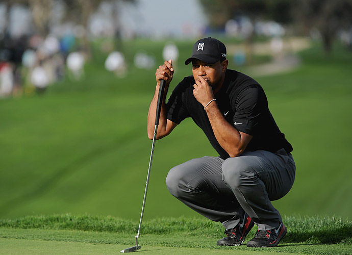 Woods had a stretch of seven holes in which he made two double bogeys followed by five straight bogeys.