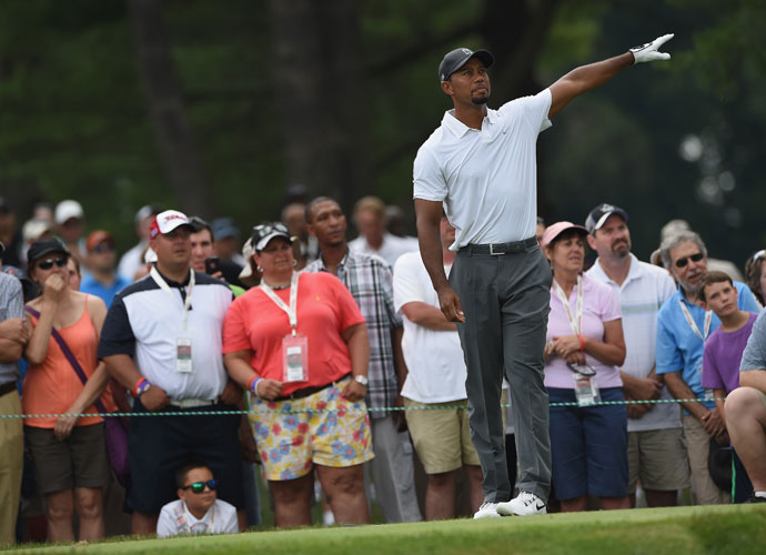 It was that kind of day for Tiger Woods, who followed a first-round 74 with a 75 and missed the cut. It was only his 10th missed cut since joining the PGA Tour.