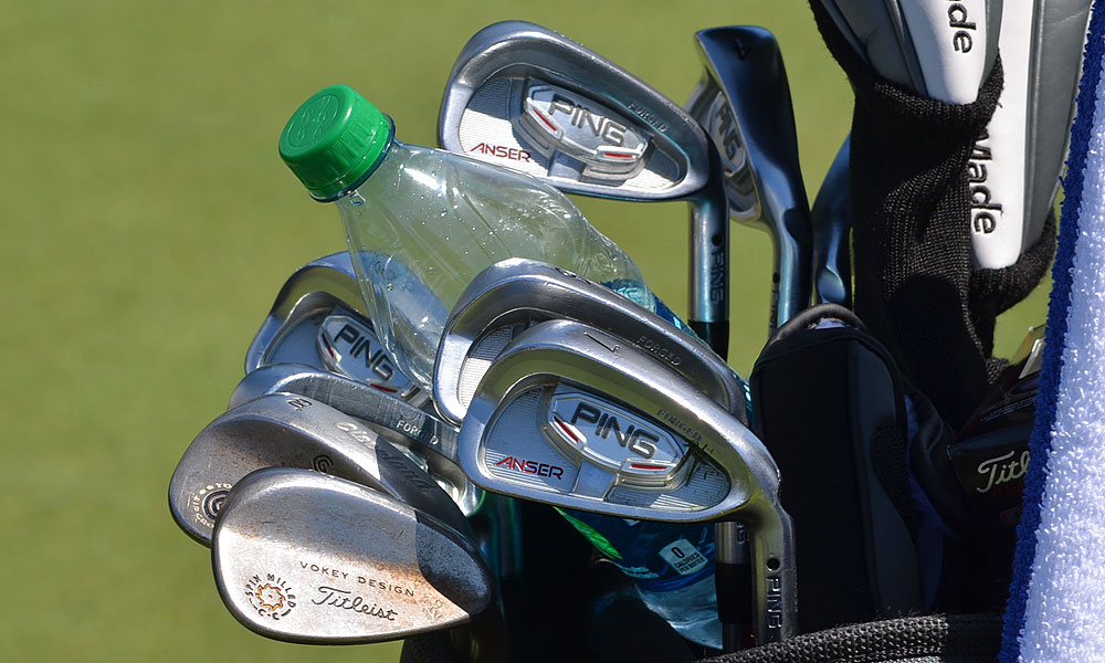 Tim Herron uses Ping Anser irons and a Titleist Vokey Design Spin Milled lob wedge.