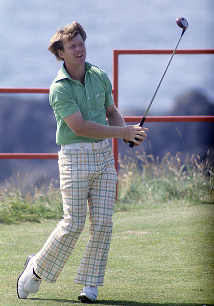 "Tom Watson at the ""Duel in the Sun,"" the 1977 British Open at Turnberry, which he won."