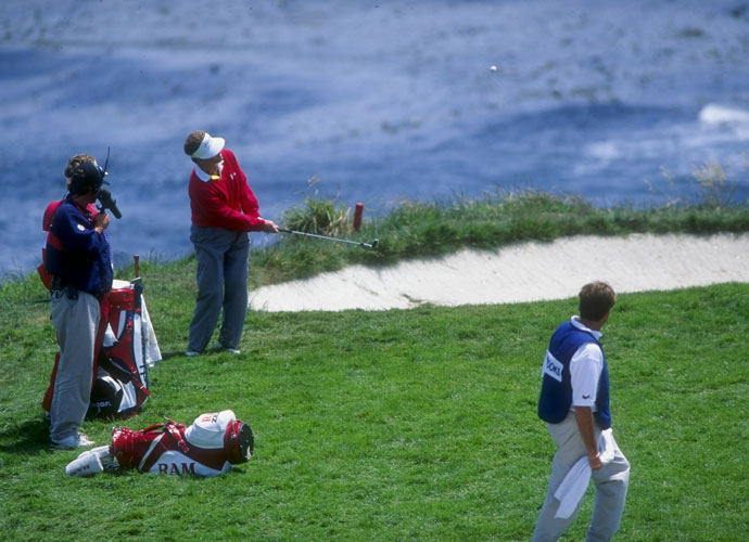 6. Tom Kite                       The consistent Kite was one of the original best players to never win a major until he captured the 1992 U.S. Open at Pebble Beach. He said his chip-in for a birdie on the seventh hole (left) was the best shot of his career. That effort was part of a scrambling 72 during the final round of the Open, played in howling winds on dried-out greens.