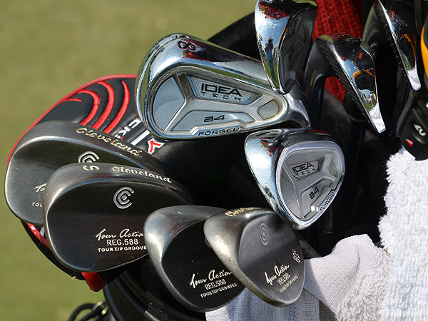Tommy Gainey is using Adams Idea Tech a4 Forged irons and Cleveland 588 wedges