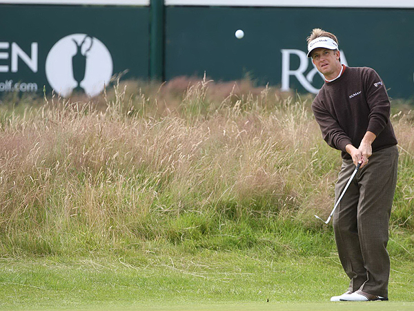 David Toms bogeyed six of his final eight holes Friday en route to a 77. He had not missed a cut this year but, at six over, he will not be around this weekend.