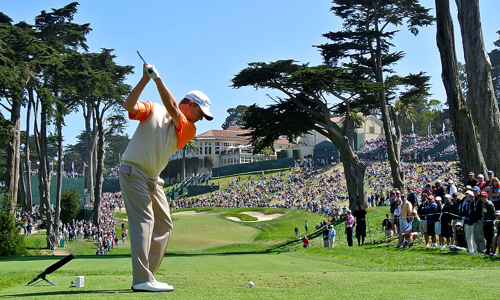 David Toms, 45, played the inward nine in two under to finish with an even-par 70.