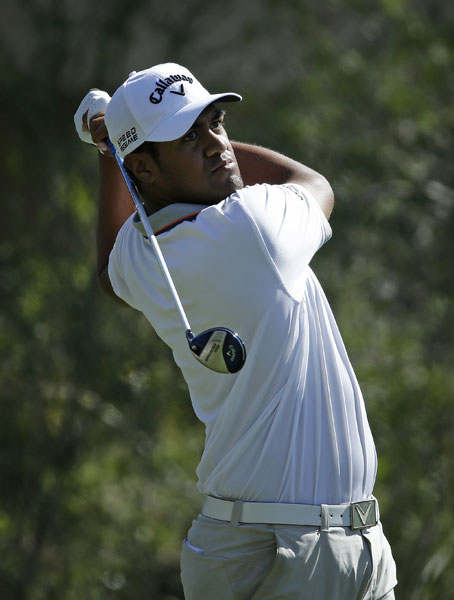 Tony Finau is tied for second after a second-round 65. He's averaging 336.9 yards off the tee.