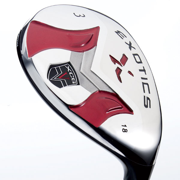 Tour Edge Exotics XCG-V                       $249, graphite                       touredge.com                       It's for: All handicap levels                                              • The titanium                       crown, face                       and front half                       of the sole are                       bonded to a                       V-shaped,                       high-density                       steel in the                       rear of the sole.                                              • Using a titanium hosel rather                       than steel (as in XCG) frees                       up 30 grams that's placed                       in the sole. This contributes                       to lower spin rates and                       hotter launch.                                              • Sixty percent of the                       head's total weight is                       in the back half of the                       sole (the lighter-colored,                       V-shaped area).                                              • The large titanium                       cup face (25 percent                       bigger than the XCG                       hybrid) shifts added                       weight low and to                       the heel and toe.                                              More Equipment:                       GOLF.com Equipment Finder: Hybrids                                              Irons for mid- and high-handicap players                                              Special Section: 2009 Golf Ball Guide                                              The Shop Equipment Blog
