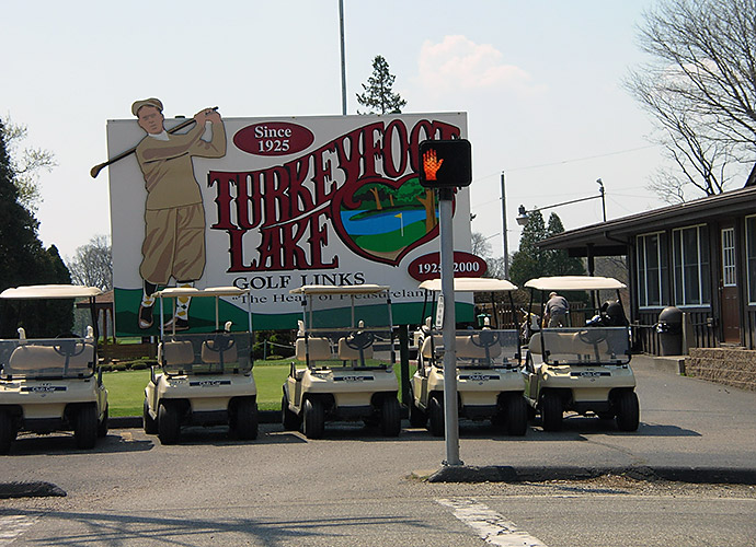 Turkeyfoot Lake Golf Links in Akron, Ohio: Dating to 1925, this 6,273-yard, par-71 layout won't smack you around with difficulty, as the 118 Slope from the tips attests, but a long, strong trio of par-5s, notably the 576-yard closer, will test every handicap. Give thanks for the price tag: It's under $25 to walk every day of the week.