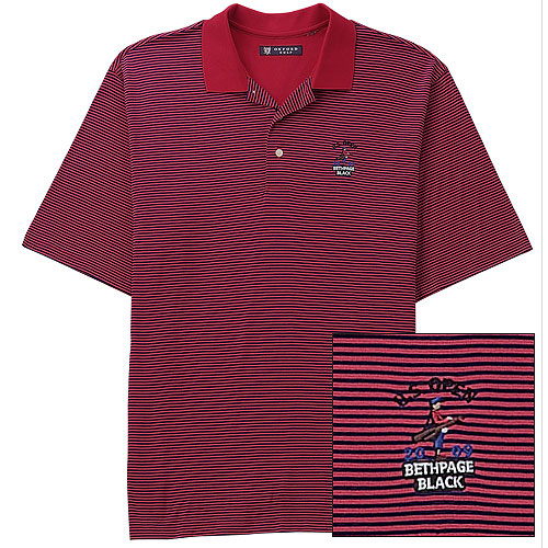 2009 U.S. Open Striped Polo by Oxford ($85 Member/$94 Non-Member)                       usgacatalog.com                       Made from 100% yarn-dyed, double-mercerized cotton, this golf shirt would be the perfect thing to wear on Father's Day, which once again coincides with the final round of the U.S. Open.