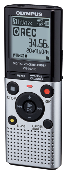 Olympus VN-702PC audio recorder, $60; olympus.com                     Thin, portable, and capable of containing 2GB of internal memory, this audio recorder is a convenient way to make quick verbal notes about your game for later reference.